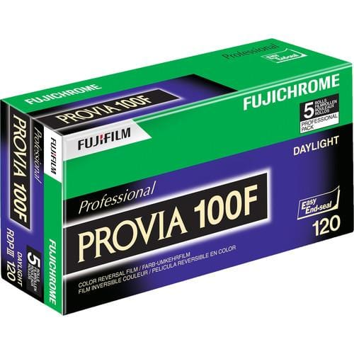 Fujfilm Provia 100F, 120, Color Positive Film (Five Roll Pack)