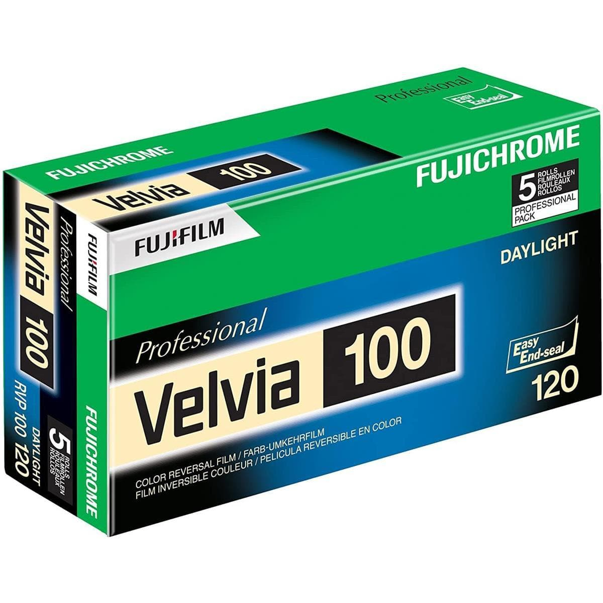 --Fujfilm Velvia 100, 120, Color Positive Film (Five Roll Pack)--