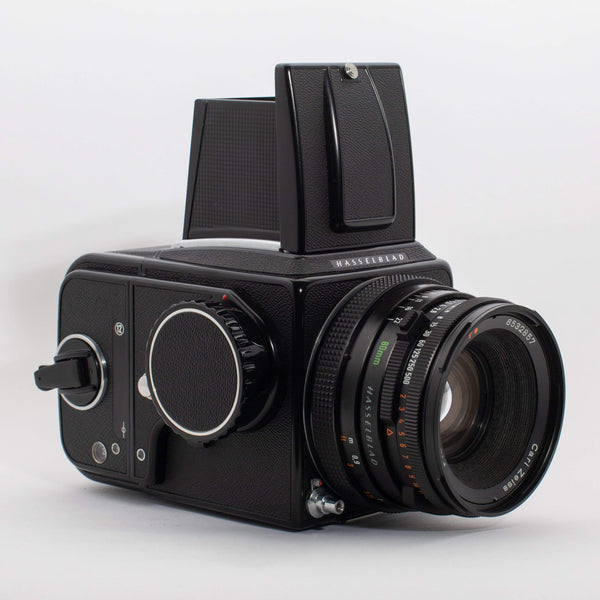 Hasselblad 500 C/M Black with Zeiss Planar T* 80mm f/2.8 CF Lens