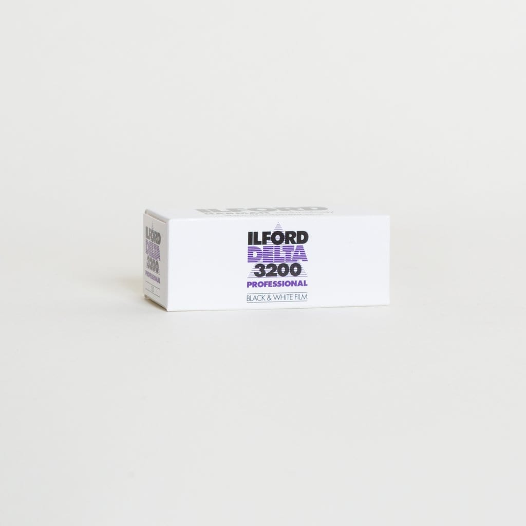 --Ilford Delta 3200, 120, Black and White Film (Pack of 10 rolls)--