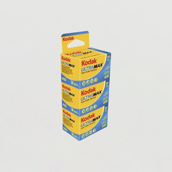 Kodak Ultramax 400 - 3 Roll Pack, 36 Exposures, Color Negative Film