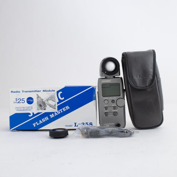 Sekonic L-358 Light Meter no. 106852 in Box