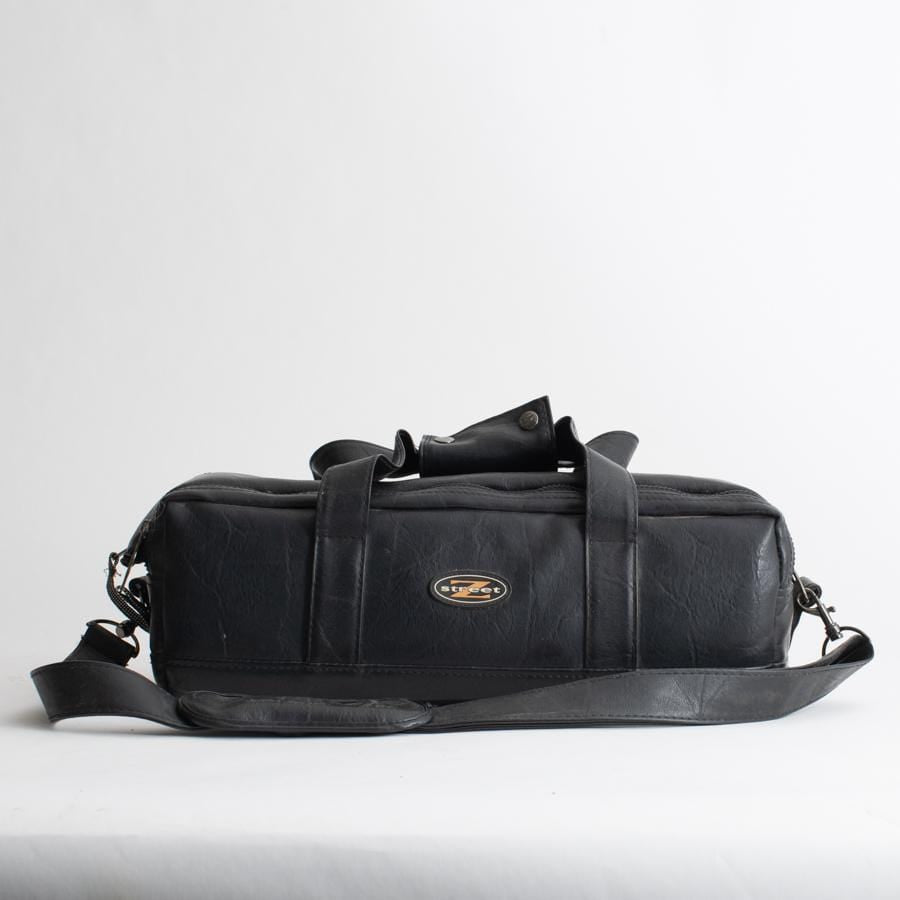 --Vintage Black Leather Camera Bag by Z Street--