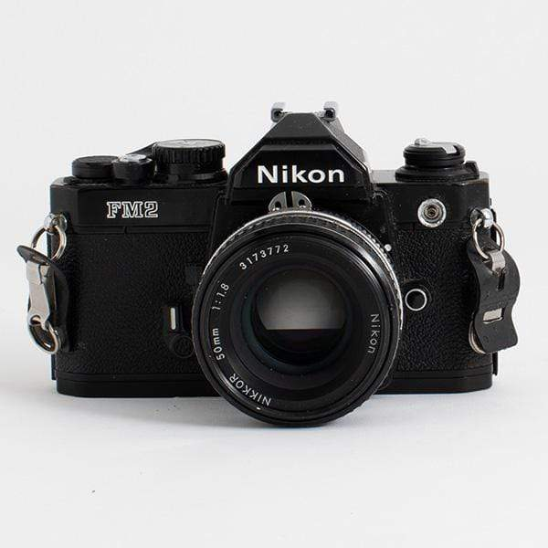 --Nikon FM2 Black w/ 50mm f/1.8 lens--