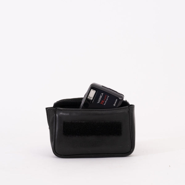 Black Leather Camera Carrying Case for Point and Shoot Cameras