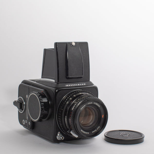 Hasselblad 500C/M Black with a Carl Zeiss 80mm Planar 2.8 Lens (PREMIUM CLA)