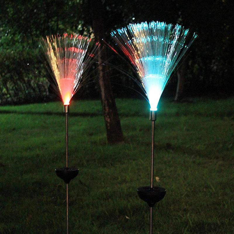 Solar Powered Fiber Lights