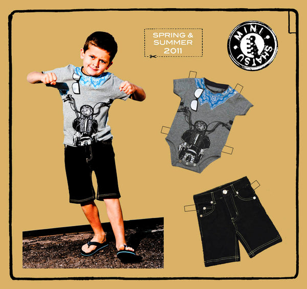 Biker Baby T-Shirt by: Mini Shatsu