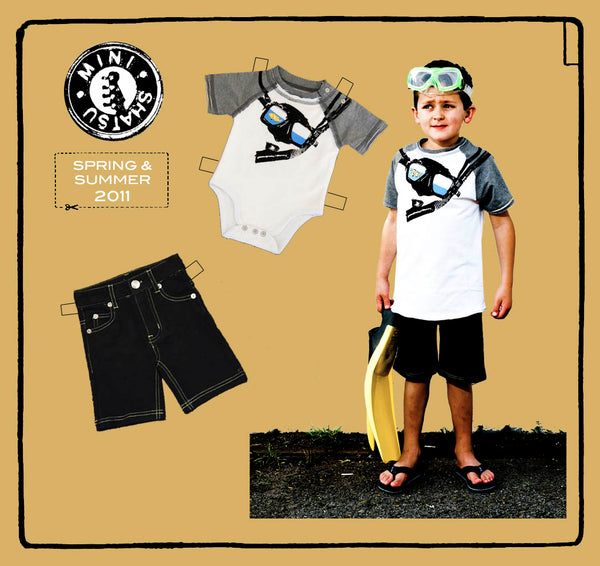 Snorkel Baby Raglan Shirt by: Mini Shatsu
