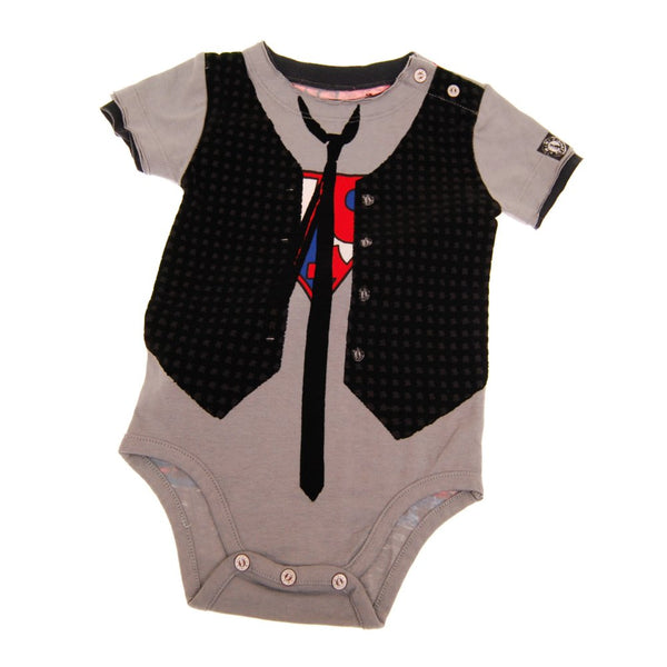 Super Hero Vest Bodysuit by: Mini Shatsu