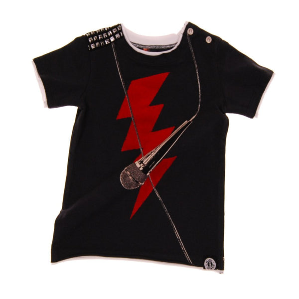 Rock The Mic Short Sleeve Baby T-Shirt by: Mini Shatsu