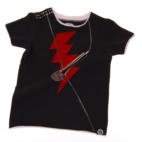 Rock The Mic Short Sleeve T-Shirt by: Mini Shatsu