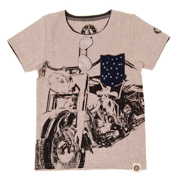 Stars and Stripes Motorcycle Shirt by: Mini Shatsu