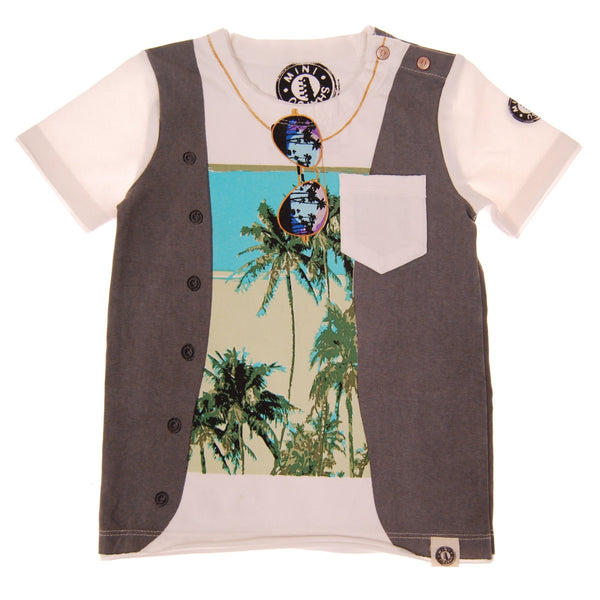 Summer Vest Baby T-Shirt by: Mini Shatsu