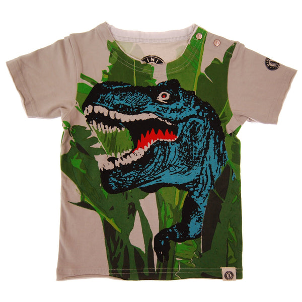 T Rex Jungle Baby T-Shirt by: Mini Shatsu