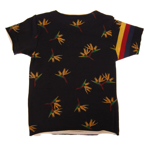 Birds of Paradise Skateboard Baby T-Shirt by: Mini Shatsu