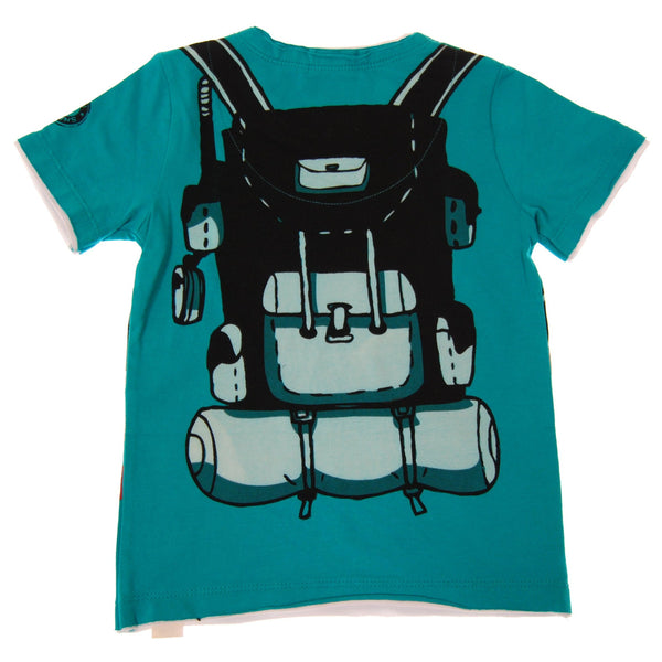 Take A Hike Backpack Baby T-Shirt by: Mini Shatsu