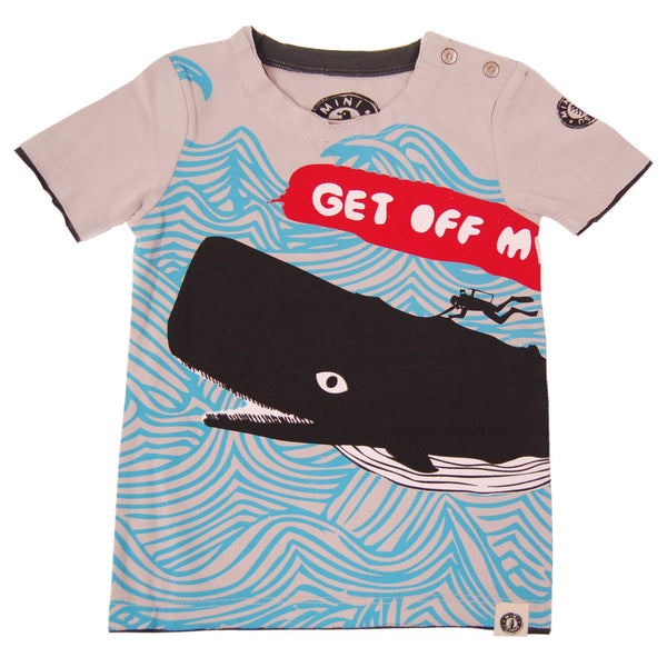 Get Off My Back Baby T-Shirt by: Mini Shatsu