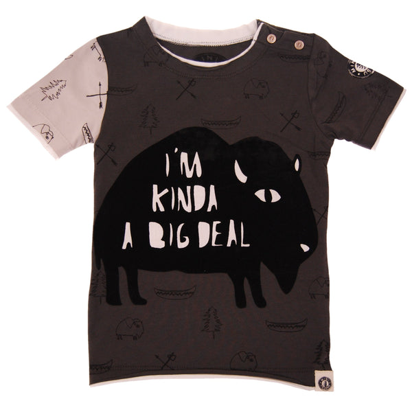 Big Deal Buffalo Baby T-Shirt by: Mini Shatsu