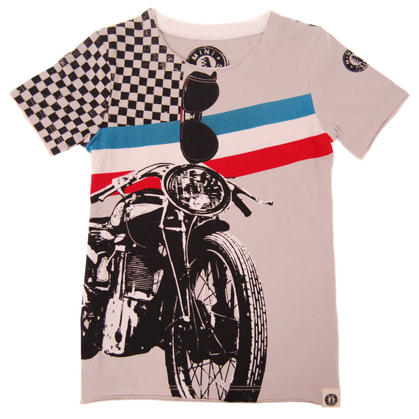 Vintage Motorcycle T-Shirt by: Mini Shatsu