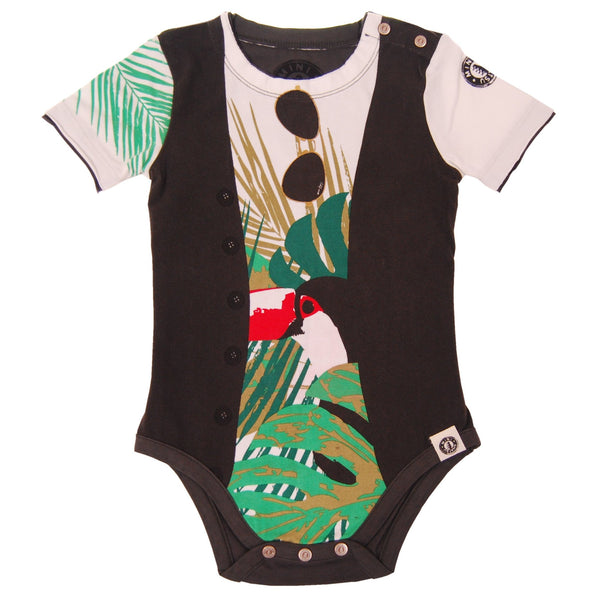 Tropical Summer Vest Bodysuit by: Mini Shatsu