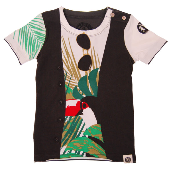 Tropical Summer Vest Baby T-Shirt by: Mini Shatsu