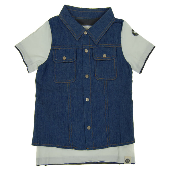 Real Denim Vest T-Shirt by: Mini Shatsu