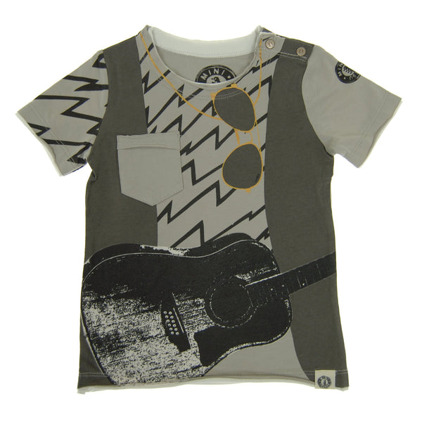 Guitar Vest Baby T-Shirt by: Mini Shatsu