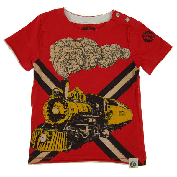 Vintage Train Baby T-Shirt by: Mini Shatsu