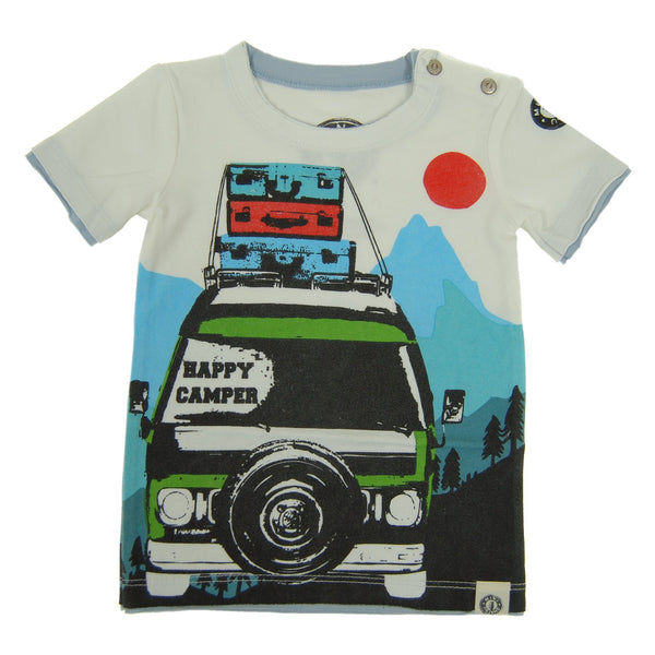 Happy Camper Baby T-Shirt by: Mini Shatsu