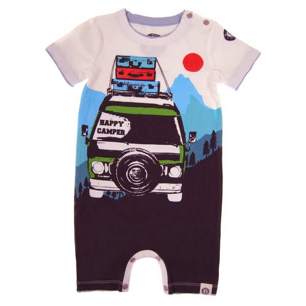 Happy Camper Romper by: Mini Shatsu