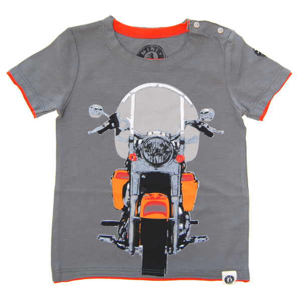 Vintage Motorcycle Cruiser Baby T-Shirt by: Mini Shatsu