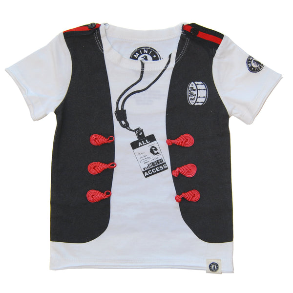 The Band Vest Baby T-Shirt by: Mini Shatsu