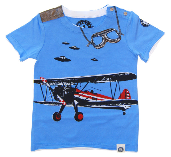 Vintage Airplane Baby T-Shirt by: Mini Shatsu