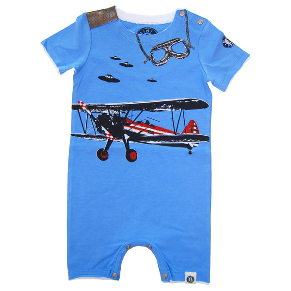 Vintage Airplane Romper by: Mini Shatsu