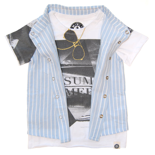 Real Summer Stripe Vest Baby T-Shirt by: Mini Shatsu