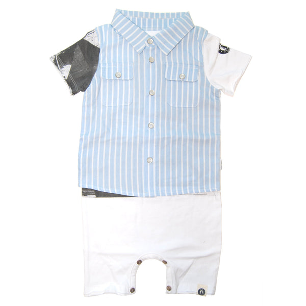 Real Summer Stripe Vest Romper by: Mini Shatsu
