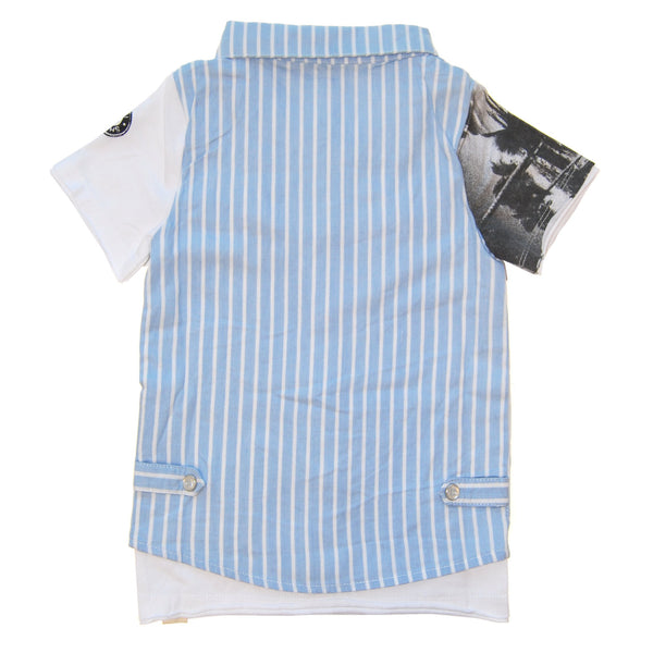 Real Summer Stripe Vest T-Shirt by: Mini Shatsu