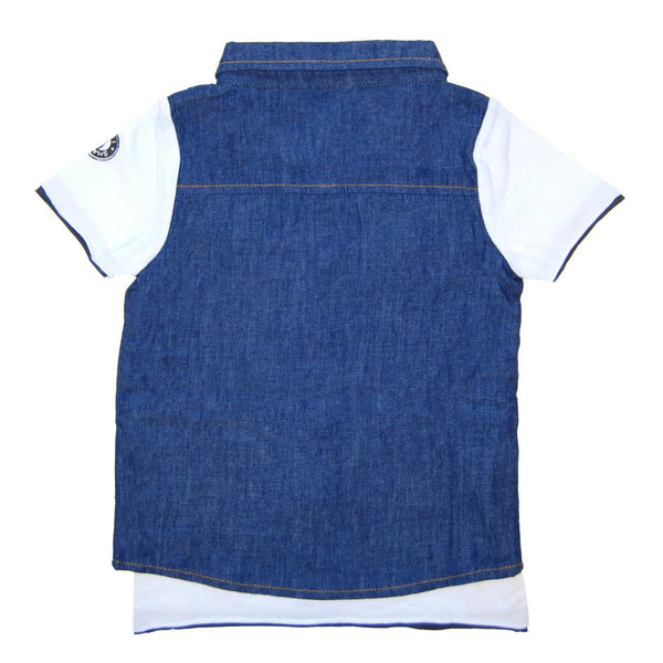Real Denim Vest Scribble Tie Baby T-Shirt by: Mini Shatsu