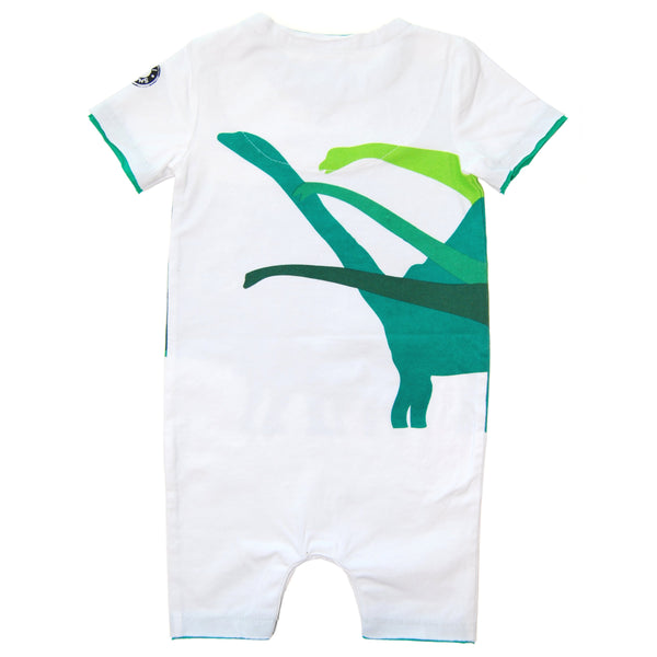 Dinosaur Mountain Big foot Sighting Romper by: Mini Shatsu
