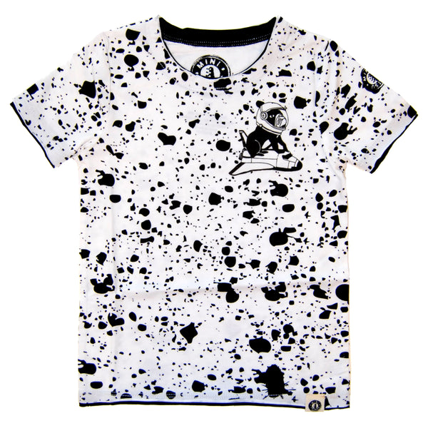 Outer Space Splatter Baby T-Shirt by: Mini Shatsu