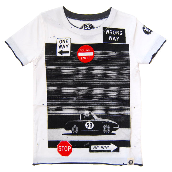 My Way Racer Baby T-Shirt by: Mini Shatsu