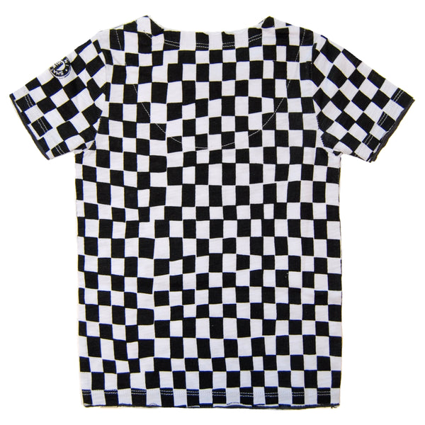 Surf Bus Checkered T-Shirt by: Mini Shatsu