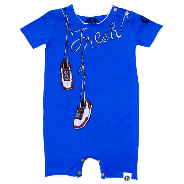 Fresh Kicks Romper by: Mini Shatsu