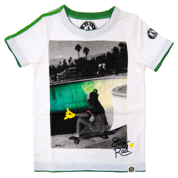 Stay Rad Skater Baby T-Shirt by: Mini Shatsu