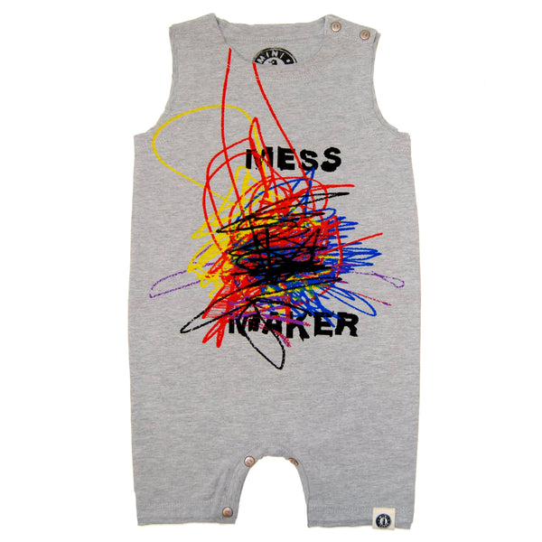 Mess Maker Romper by: Mini Shatsu