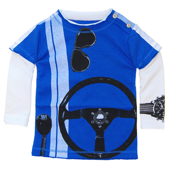 Speedster Baby Twofer Shirt by: Mini Shatsu