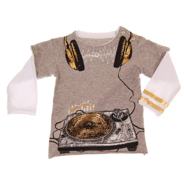 Underground DJ Waves Baby Twofer T-shirt by: Mini Shatsu