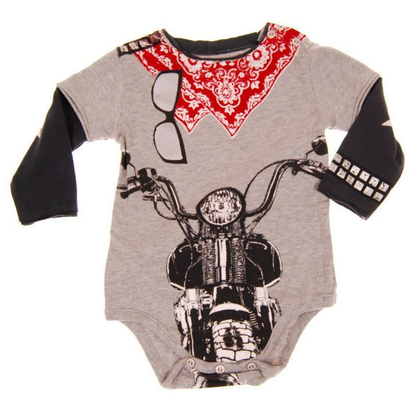 Biker Red Bandana Twofer Bodysuit by: Mini Shatsu