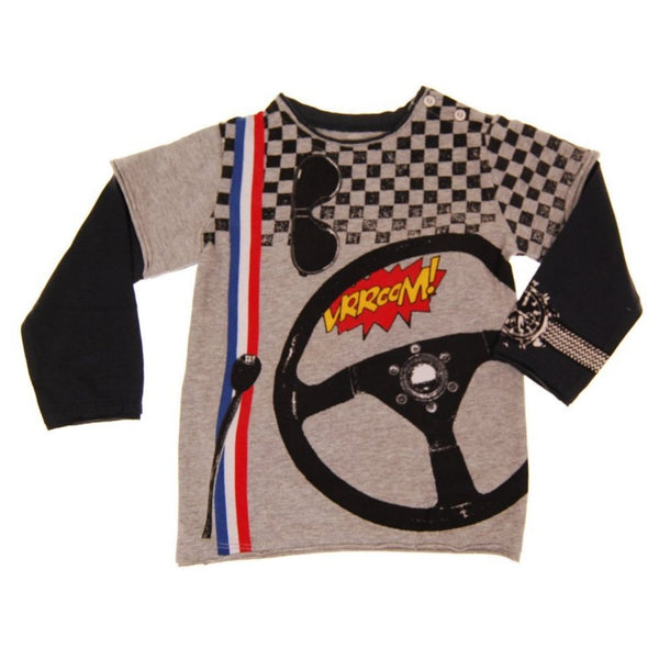 Speedster Vrroom Baby Twofer T-shirt by: Mini Shatsu